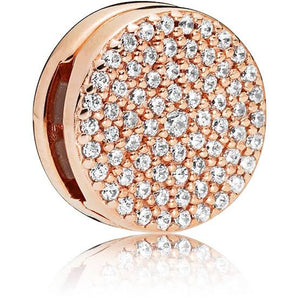 Rose Gold Plated Dazzling Elegance Reflexion Pandora Compatible Charm