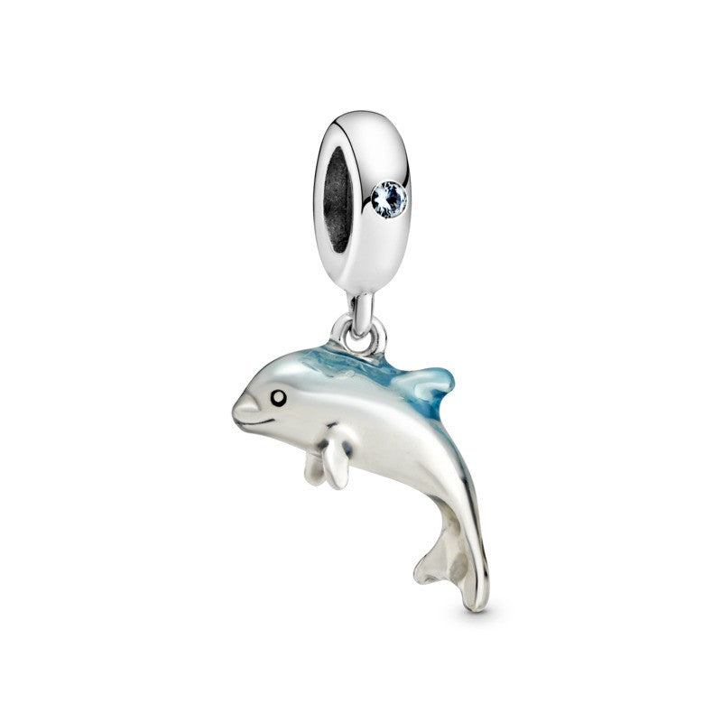 925 Sterling Silver Fabulous Dolphin Pandora Compatible Dangle Charm