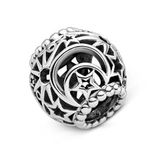 Load image into Gallery viewer, 925 Sterling Silver Star and Moon Pandora Compatible Bead Charm