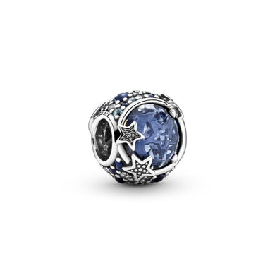925 Sterling Silver Star Ball Pandora Compatible Bead Charm