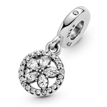 Load image into Gallery viewer, 925 Sterling Silver Christmas Snowflake Pandora Compatible Dangle Charm