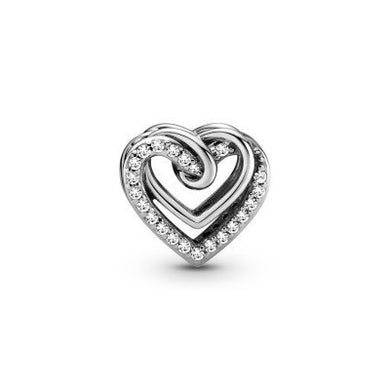 925 Sterling Silver Twined Heart Pandora Compatible Heart Charm