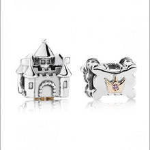 Load image into Gallery viewer, 925 Sterling Silver Castle Pandora Compatible Bead Charm