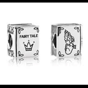 925 Sterling Siver Fairy Tale Book Pandora Compatible Bead Charm