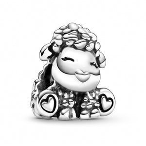 925 Sterling Silver CUTE SHEEP Pandora Compatible Charm