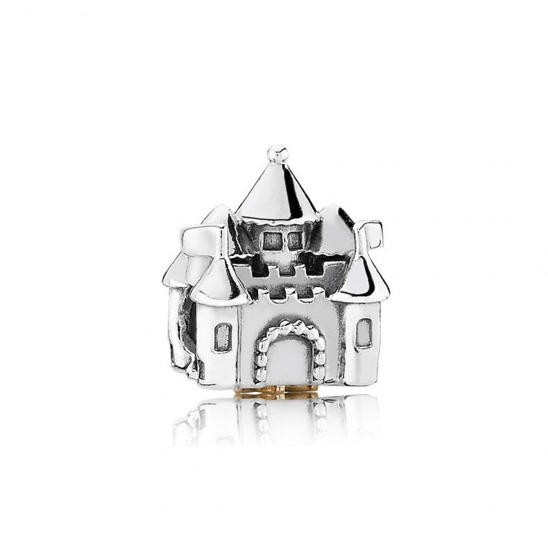 925 Sterling Silver Castle Pandora Compatible Bead Charm