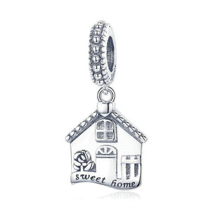 925 Sterling Silver Sweet Home Pandora Compatible Dangle Charm