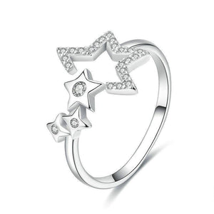 925 Sterling Silver CZ Luminous Star Ring