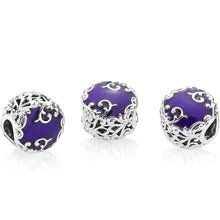 Load image into Gallery viewer, 925 Sterling Silver Regal Beauty Purple Pandora Compatible Bead Charm