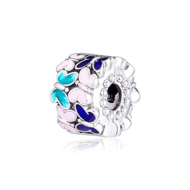 925 Sterling Silver Colourful Butterfly Pandora Compatible CLIP