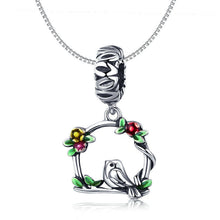 Load image into Gallery viewer, 925 Sterling Silver Bird and Cage Pandora Compatible Dangle Charm