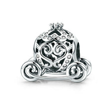Load image into Gallery viewer, 925 Sterling Silver Cinderella Pumpkin Carriage Pandora Compatible Bead Charm