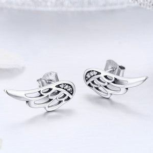 925 Sterling Silver Fairy wing Earrings