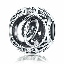 Load image into Gallery viewer, 925 Sterling Silver Alphabet Vintage Letter A-Z Pandora Compatible Bead Charm