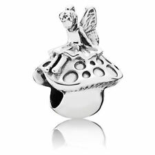 925 Sterling Silver Fairy on Toadstool Pandora Compatible Bead Charm