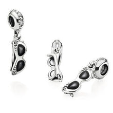 Load image into Gallery viewer, 925 Sterling Silver Cool Sunglasses/Shades Pandora Compatible Charm
