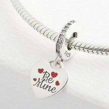 "Load image into Gallery viewer, 925 Sterling Silver ""Be Mine"" Soul Mates Valentine Pandora Compatible Charm"