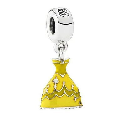 925 Sterling Silver Belle Beauty and the Beast Dress Pandora Compatible Dangle Charm