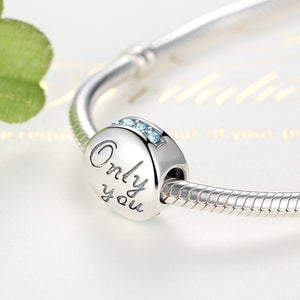 New 925 Sterling Silver Bracelet Beads Only You Love DIY Jewelry Making Accessories   SCC013