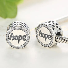 Load image into Gallery viewer, 925 Sterling Silver CZ Hope Pandora Compatible Bead Charm
