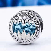 Load image into Gallery viewer, 925 Sterling Silver Animal Beast Guardian Monster Holding Blue Crystal Beads fit Charm Bracelets Jewelry SCC162