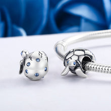 Load image into Gallery viewer, Cute Design 925 Sterling Silver Reborn Turtle Tortoise & Clear CZ Beads fit Charm Bracelets & Bangles DIY Jewelry SCC192