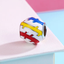 Load image into Gallery viewer, Authentic 100% 925 Sterling Silver Beautiful Youth Color Enamel Charms Beads fit Women Charm Bracelets DIY Jewelry SCC275