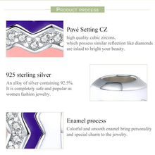 Load image into Gallery viewer, Romantic Real 100% 925 Sterling Silver Graceful Rhythm Color Enamel Beads fit Charm Bracelets Necklaces Jewelry SCC291
