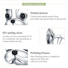 Load image into Gallery viewer, 925 Sterling Silver Loyal Partners French BULLDOG Doggy Animal Beads fit Women Charm Bracelets Dog Jewelry SCC315