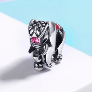 New Arrival Genuine 100% 925 Sterling Silver Thailand Lucky Elephant Charms fit Women Bracelets Fine Jewelry SCC321