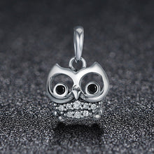 Load image into Gallery viewer, Hot Sale 925 Sterling Silver Lovely Animal Owl Pendant Charms fit Women Charm Bracelets & Necklaces DIY jewelry SCC341