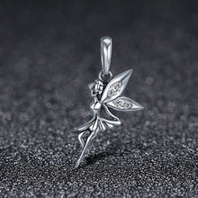 Load image into Gallery viewer, Authentic 925 Sterling Silver Flower Fairy Dangle Pendant Charms fit Women Charm Bracelets & Necklaces jewelry SCC359