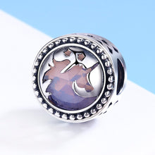 Load image into Gallery viewer, Authentic 925 Sterling Silver Fantasy Unicorn Big Stone Charm Beads fit Charm Bracelet DIY Jewelry Gift SCC377