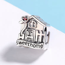 Load image into Gallery viewer, Fashion New Genuine 100% 925 Sterling Silver Sweet Home Loft Villa Charms fit Bracelets DIY Fine Jewelry SCC416