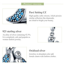 Load image into Gallery viewer, 100% 925 Sterling Silver Cute Bird Dependency Clear CZ Pendant Charms fit Bracelets Necklace Jewelry Making SCC426