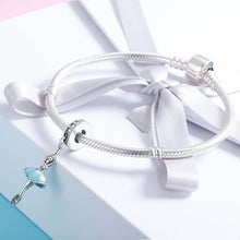 Load image into Gallery viewer, Popular Genuine 925 Sterling Silver Ballet Girl Ballet Angel Pendant Charm fit Women Charm Bracelet DIY Jewelry SCC514