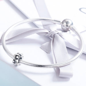New Arrival 100% 925 Sterling Silver Stackable Moon and Star Spacer Beads fit Women Bracelet Fine Jewelry Making SCC540