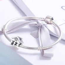 Load image into Gallery viewer, 100% 925 Sterling Silver Perfection Sweet Home Family Together Forever Charm Beads fit Charm Bracelet Gift S925 SCC541