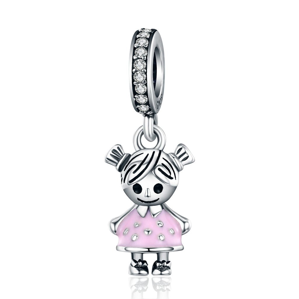 .925 Sterling Silver Adorable Little Girl Charm