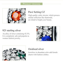 Load image into Gallery viewer, High Quality 100% 925 Sterling Silver Sparkling AAA Zircon Round Charm Beads fit Charm Bracelet Fine Jewelry Gift SCC547