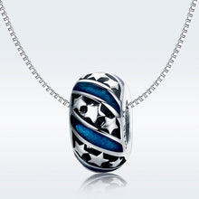 Load image into Gallery viewer, 925 Sterling Silver Blue Star Patterned Pandora Compatible Spacer