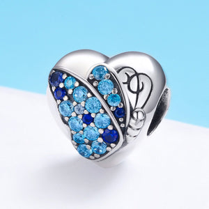 Romantic Authentic 925 Sterling Silver Butterfly Flower Love Heart Charm Beads fit Bracelet Fine Jewelry Making SCC653