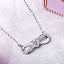 Load image into Gallery viewer, .925 Sterling Silver Infinity Heart Necklace