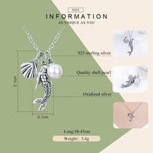Load image into Gallery viewer, 100% 925 Sterling Silver Romantic Mermaid-Legend Shell Pendant Necklaces for Women Sterling Silver Jewelry Gift SCN237