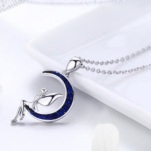 Load image into Gallery viewer, Hot Sale 100% 925 Sterling Silver Lucky Fairy in Blue Moon Pendant Necklaces Women Sterling Silver Jewelry Gift SCN244