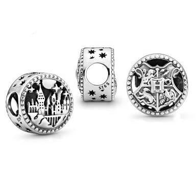 925 Sterling Silver Harry Potter Hogwarts Castle Pandora Compatible Bead Charm