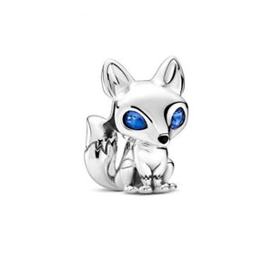 925 Sterling Silver Fox Pandora Compatible Charm