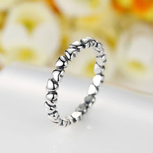 Load image into Gallery viewer, 925 Sterling Silver Stackable Trail of Hearts Ring