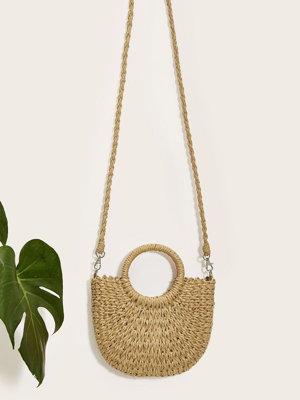Saffron's Straw Plaited Bag