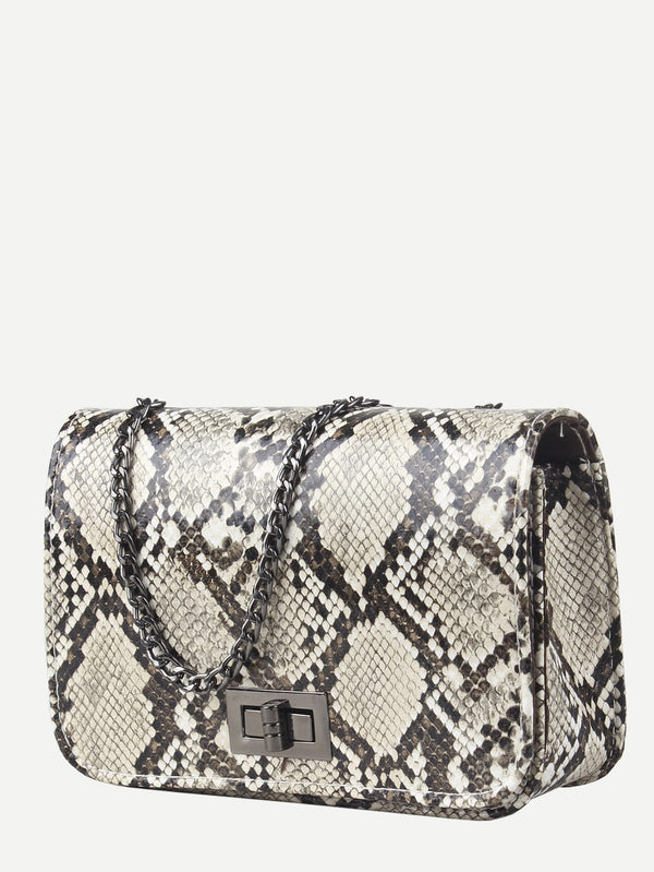 Mathilda Snake Print Cross Body Bag